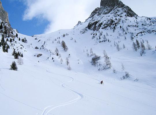 Alba di Canazei v zimě