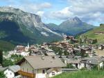 Italská vesnička San Cassiano